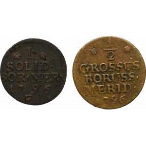 Prusy Południowe, Zestaw półgrosz i szeląg 1796, Królewiec