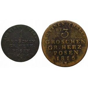 Wielkie Księstwo Poznańskie, Zestaw Grosz i 3 grosze 1816