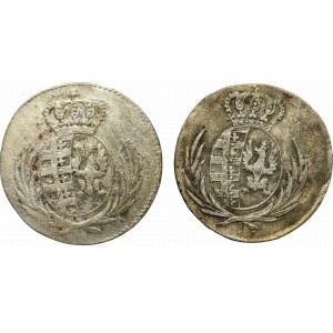 Księstwo Warszawskie zestaw 5 groszy 1811 (2 egz)