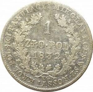 Kingdom of Poland, Nicholas I, 1 zloty 1832