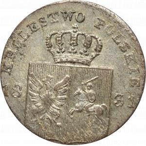 Powstanie Listopadowe, 10 groszy 1831 - łapy orła zgięte