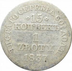 Zabór rosyjski, Mikołaj I, 15 kopiejek=1 złoty 1837 - wąskie oczka 8