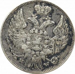 Zabór rosyjski, Mikołaj I, 15 kopiejek=1 złoty 1837 - szerokie oczka 8