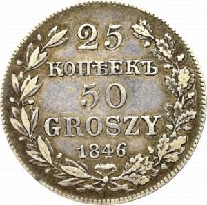 Poland under Russia, Nicholas I, 25 kopecks=50 groschen 1846
