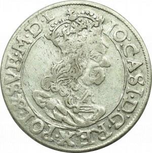 Jan II Kazimierz, Szóstak 1662, Kraków - nieopisany IO CASI