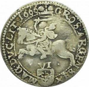 John II Casimir, 6 groschen 1666, Vilnius