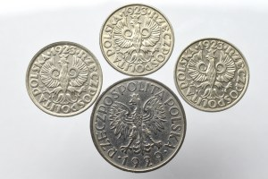 II Rzeczpospolita, zestaw monet od 20 groszy - 1 złoty