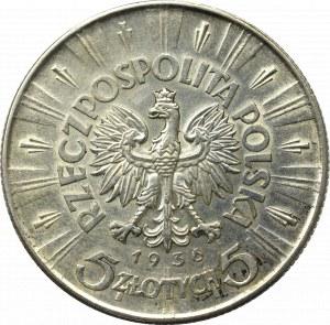 II Republic of Poland, 5 zloty 1936 Pilsudski