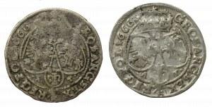 John II Casimir, Lot of 6 groschen 1666