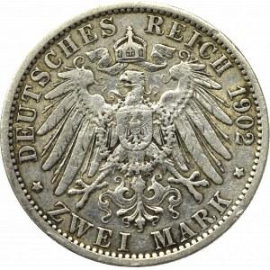 Germany, Preussen, 2 mark 1902