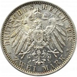 Niemcy, Prusy, 2 marki 1913 - 25 lat rządów Wilhelma II