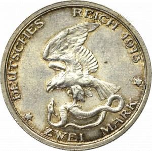 Germany, Preussen, 2 mark 1913 - 100 years of the victory over Napoleon