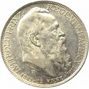 Germany, Bayern, 2 mark 1911 - 90th anniversary of the prince regent