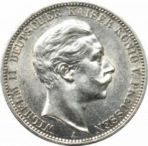 Germany, Preussen, 3 mark 1908