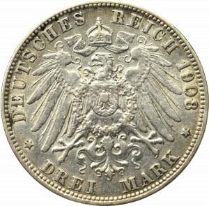 Germany, Hamburg, 3 mark 1908