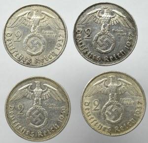 Germany, III Reich, Lot of 2 mark Hindenburg