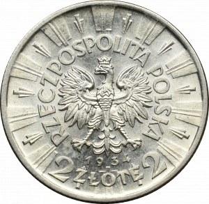 II Republic of Poland, 2 zlote 1934 Pilsudski