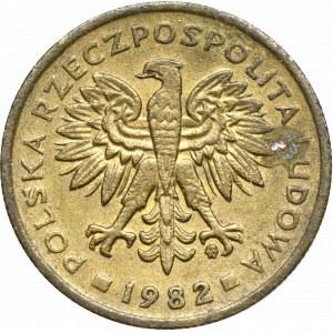 PRL, 2 złote 1982 - destrukt