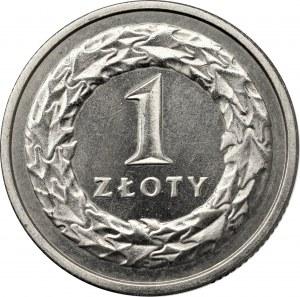 III RP, 1 złoty 1995 - wypukły napis PRÓBA