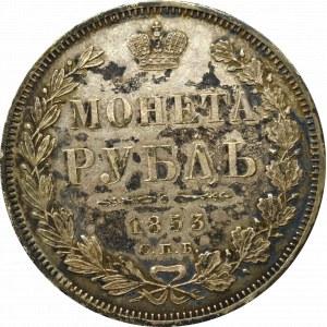Rosja, Mikołaj I, Rubel 1853 HI