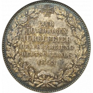 Germany, Bremen, Thaler 1863 - 50 years of liberation of Germany NGC MS64