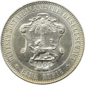 Niemiecka Afryka Wschodnia, 1 rupia 1901