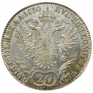 Austria, Franciszek I, 20 krajcarów 1830