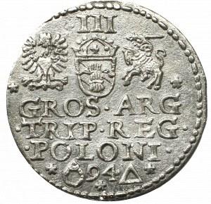 Zygmunt III Waza, Trojak 1594, Malbork - nieopisany