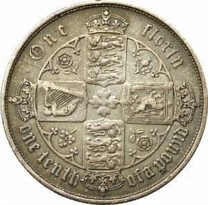 Wielka Brytania, 1 floren 1853 - typ gotycki