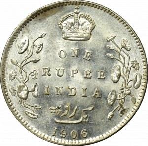 Indie brytyjskie, 1 Rupia 1906