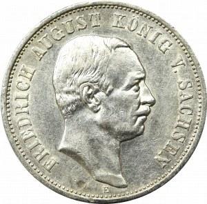 Germany, Saxony, 3 mark 1909