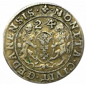 Sigismund III, 18 groschen 1624, Danzig - date overstriked