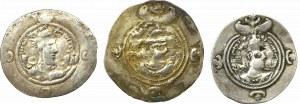 Sasanians, lof ot 3 Drachms