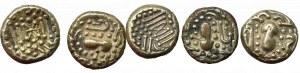 Indie, Dynastia Chalukya, zestaw Piastra ok.1000 r. n.e