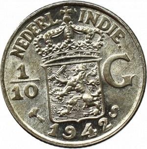 Indie Niderlandzkie, 1/10 guldena 1942
