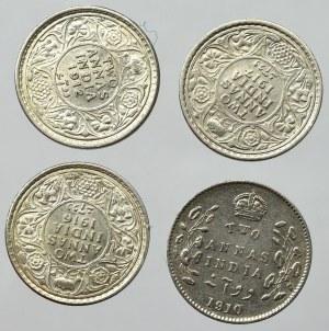 Indie Brytyjskie, Zestaw 2 annas 1910-17