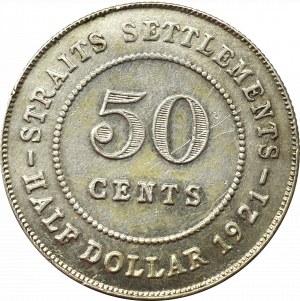 Malezja, 50 centów 1921