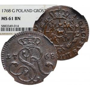Stanislaus Augustus, Groschen 1768 G - NGC MS61