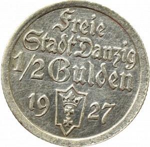 Free City of Danzig, 1/2 gulden 1927