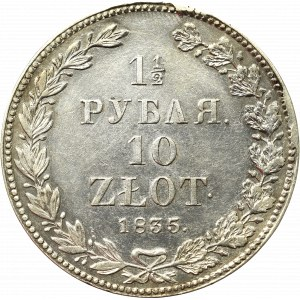 Poland under Russia, Nicholas I, 1-1/2 rouble=10 zloty 1835 НГ Petersburg