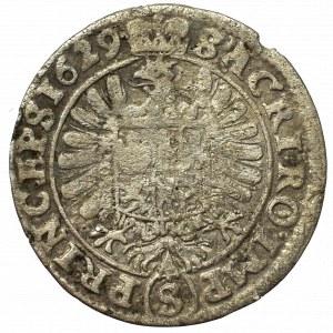 Schlesien, Albert von Wallenstein, 3 kreuzer 1629, Jicin