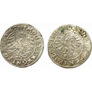 Sigismund I the Old, Lot of groschen 1546 and 1547 Cracow
