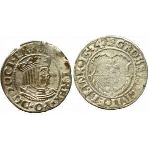 Zygmunt I Stary, Zestaw grosz 1534 Gdańsk i Elbląg