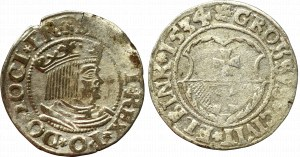 Sigismund I the Old, Lot of groschen 1534 Danizg and Elbing