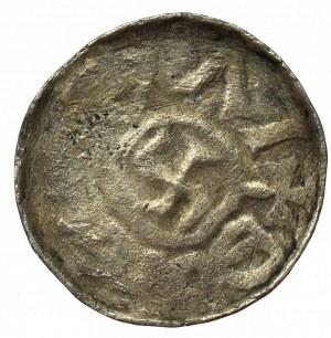 Bolesław III Krzywousty jako Książę śląski, Denar bez daty, Wrocław (przed 1107) - monogram SI