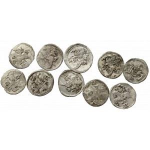 Sigismund II Augustus, Lot of 2 denarii (10 ex)