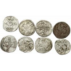 Sigismund II Augustus, Lot of 2 denarii (8 ex)