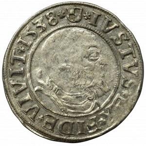 Prusy Książęce, Albrecht Hohenzollern, Grosz 1538, Królewiec