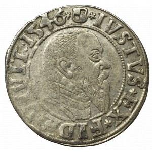 Prusy Książęce, Albreht Hohenzollern, Grosz 1546, Królewiec - duża data