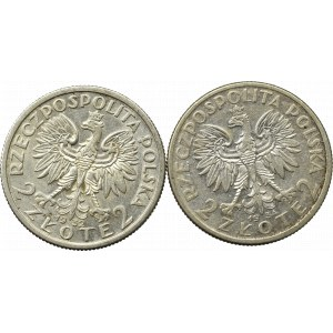 II Republic of Poland, Lot of 2 zloty 1932-34